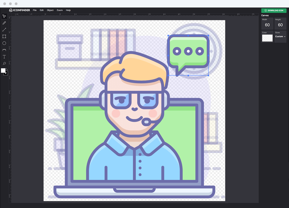Iconfinder Icon Editor